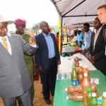 President Museveni and Etienne Salborn