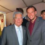 Etienne Salborn und Bundespräsident Joachim Gauck
