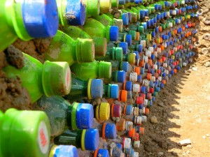 Houses out of plasctic bottles